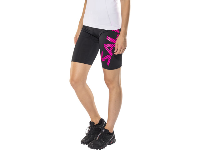 Salming Power Logo Tights Women Black/Pink